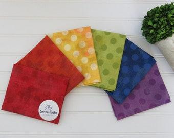 Moda Grunge Dots Rainbow FQ Bundle CC 243