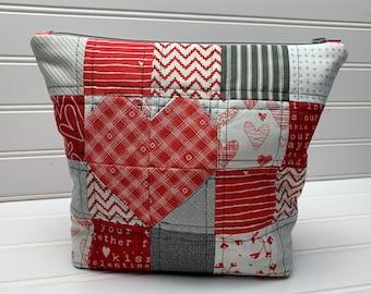 Be Mine Heart Zipper Pouch Kit