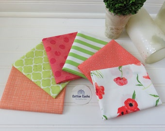 Curated Poppy Reflections FQ Bundle CC 256