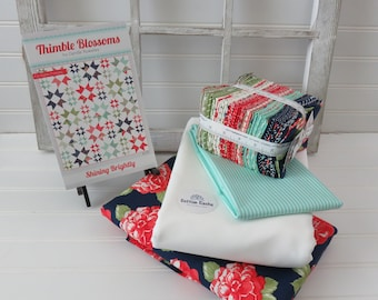 Shining Brightly Quilt Kit featuring Early Bird by Bonnie & Camille for Moda
