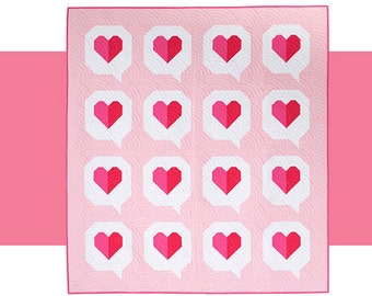I Heart You Quilt Pattern by Modern Holiday