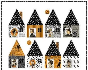 Cabin Chills Quilt Pattern*Cabin Chills*Halloween Quilt Pattern*Halloween Quilt*Old Made Quilt*Haunted House Quilt*Halloween Pattern*Fall*