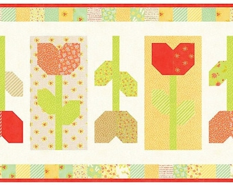 Tulip Farm Table Runner Pattern by Fig Tree & Co.