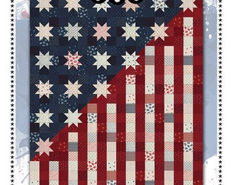 Our Flag Stands for Freedom Quilt Pattern*Flag Quilt*Flag Pattern*Patriotic Quilt Pattern*Patriotic Quilt*Summer Quilt Pattern*Flag Mini*