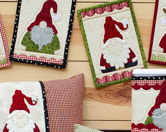 Holly Jolly Gnomes Applique Pattern