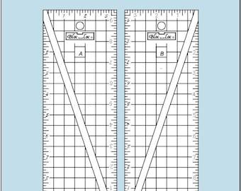 BLOC LOC Half-Rectangle Triangle 3:1 Ruler Set Large
