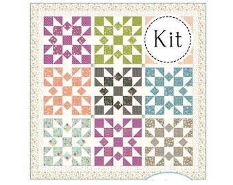 Promenade Quilt Kit Featuring Balboa by Chelsi Stratton for Moda