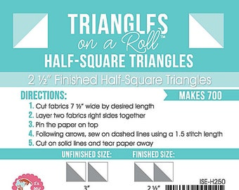 Triangles on a Roll 2 1/2 inch Grid Paper