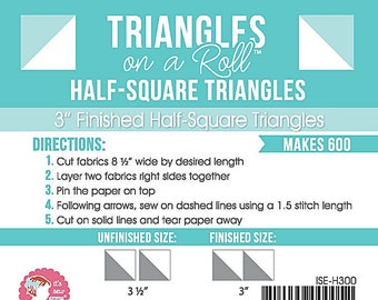 Triangles on a Roll 3 inch