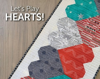 Let's Play Hearts Table Runner Pattern