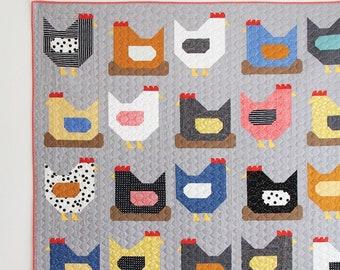 Chickens Quilt Pattern*Chicken Quilt Pattern*Chicken Quilt*Chickens*Cluck Cluck Sew Chickens*Quilted Chickens*Farm Quilt*Chicken Pattern*