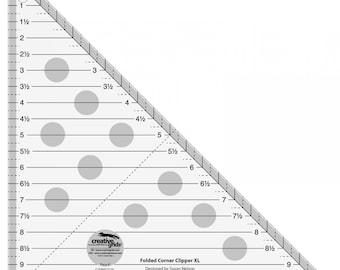 Creative Grids Folded Corner Clipper Tool XL Quilt Ruler