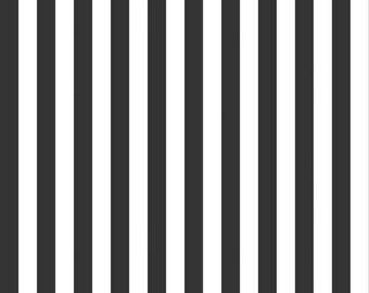 1/2 Inch Black Stripe (C530-110 BLACK) 1/2 Yard Increments