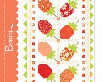 Berries Table Runner Pattern*Fig Tree Berries*Strawberry Topper*Berry Topper*Berries Table Runner*Strawberry Rhubarb Pattern*Strawberries*