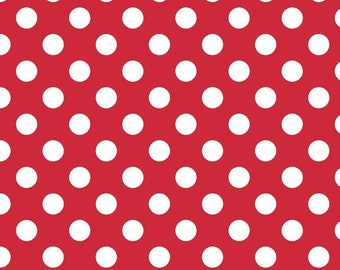 8655 92 Quilt Fabric Red Dot Fabric Mini Dots Red Moda Basic Essential Christmas Fabric Dots Fabric