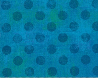 Moda Grunge Hits The Spot Turquoise (30149 55) 1/2 Yard Increments