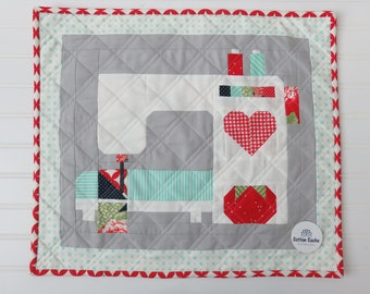 Stitched with Love Mini Quilt Kit* Sewing Machine Mini Quilt* Sewing Machine Quilt* Sewing Machine* Mini Quilt Kit* Mini Quilt* Quilt Kit*