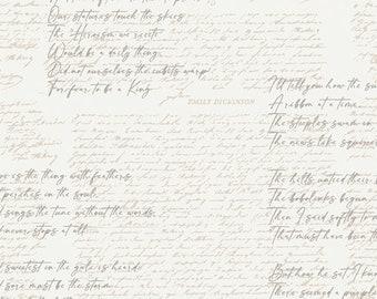 Art Gallery Fabrics CAPSULES Soften the Volume Poetic Manuscripts (CAP-SV-11609) 1/2 Yard Increments