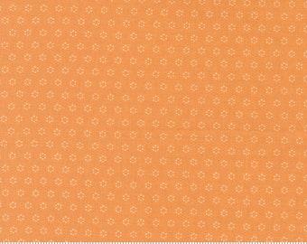 Moda Pumpkin Blossoms Pumpkin Polka Dot (20428 12) 1/2 Yard Increments