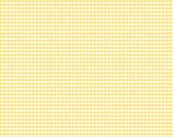 "Riley Blake Designs 1/8"" Small Gingham Yellow (C440-50 YELLOW) 1/2 Yard Increments"