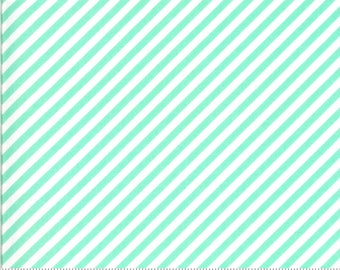 Moda Shine On Stripe Aqua (55215 13) 1/2 Yard Increments