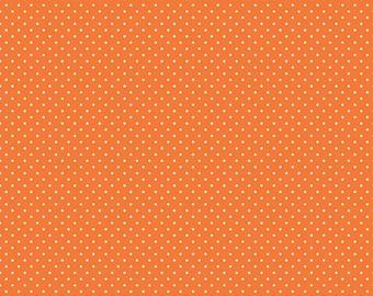White Swiss Dot on Orange (C670-60 ORANGE)