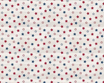 Riley Blake Designs Let Freedom Soar Stars Off White (C10521-OFFWHITE) 1/2 Yard Increments