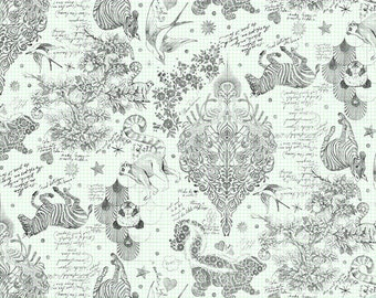 Free Spirit Linework by Tula Pink Sketchyer Paper Backing (QBTP005.PAPER)  1/2 Yard Increments