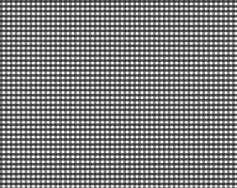 "Riley Blake Designs 1/8"" Small Gingham Black (C440-110 BLACK) 1/2 Yard Increments"