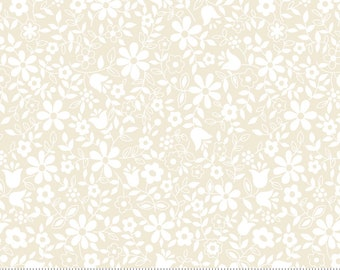 Moda Whispers Flower Patch Cream (33557 13) 1/2 Yard Increments