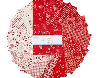 """Riley Blake Designs From The Heart 10"""" Stacker (10-10050-42)"""