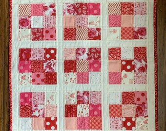 Valentine Scrappy Nine Patch Mini Quilt Kit