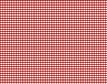 """Riley Blake Designs 1/8"""" Small Gingham Red (C440-80 RED) 1/2 Yard Increments"""