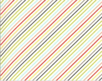 Moda Happy Days Stripe Multi (37604 11) 1/2 Yard Increments