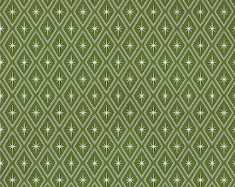 Free Spirit Christmastime Sparkle Green (PWTH171.GREEN) 1/2 yard Increments