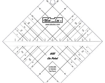 Bloc Loc Half Square Triangle On Point 6 Inch
