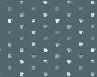 Art Gallery Fabrics Snow Day Drink It Up (SND-65407) 1/2 Yard Increments