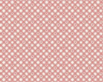 Riley Blake Designs From The Heart Plaid Cream (C10056-CREAM) 1/2 Yard Increments