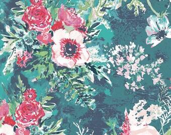 Art Gallery Fabrics Aquarelle Impressionist Wash Fresh(AQU-76750) 1/2 Yard Increments