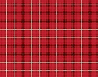 Riley Blake Designs Wild at Heart Plaid Red (C9825-RED)