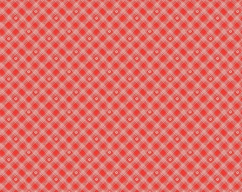 Riley Blake Designs From The Heart Plaid Red (C10056-RED) 1/2 Yard Increments