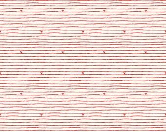 Riley Blake Designs From The Heart Stripe Cream (C10054-CREAM) 1/2 Yard Increments