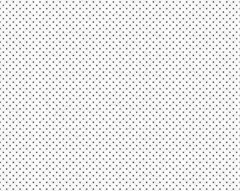 Riley Blake Designs Black Swiss Dot on White (C660-110 BLACK) 1/2 Yard Increments
