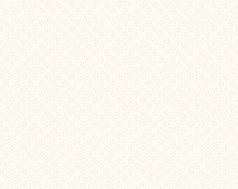Riley Blake Designs Daisy Tone On Tone Cream (C750-01 CREAM) 1/2 Yard Increments