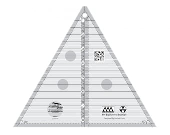 """Creative Grids 60 Degree Triangle 8-1/2"""" Quilt Ruler"""