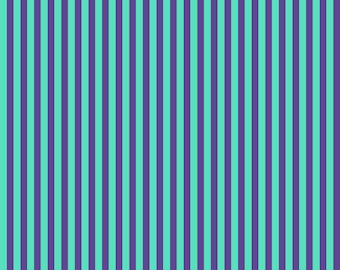 Free Spirit True Colors by Tula Pink Tent Stripe- Iris (PWTP069.IRISX) 1/2 Yard Increments