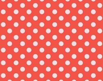 Riley Blake Designs Sending Love Dots Red (C10085-RED) 1/2 Yard Increments