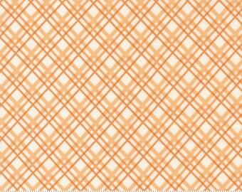 Moda Pumpkin Blossoms Pumpkin Plaid (20424 11) 1/2 Yard Increments