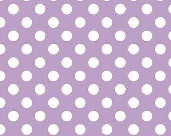 3/4 YD Bolt End Riley Blake Medium Dot Lavender (C360-120 LAVENDER)