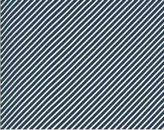 Moda Happy Days Stripe Navy (37604 26) 1/2 Yard Increments